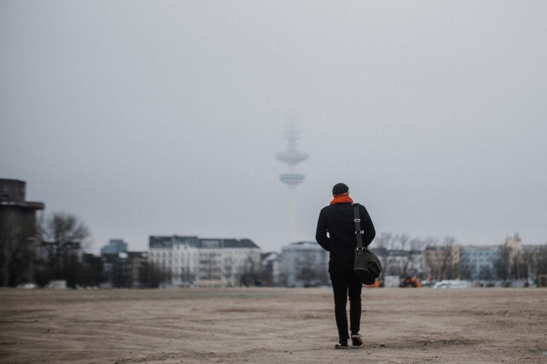Christopher Große-Cossmann auf dem Heiligen Geistfeld in Hamburg
