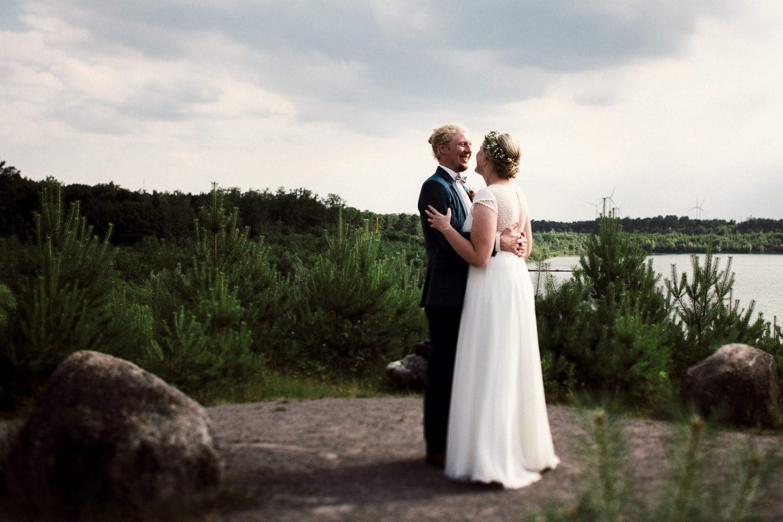 Hochzeitspaar am Silbersee bei Haltern am See
